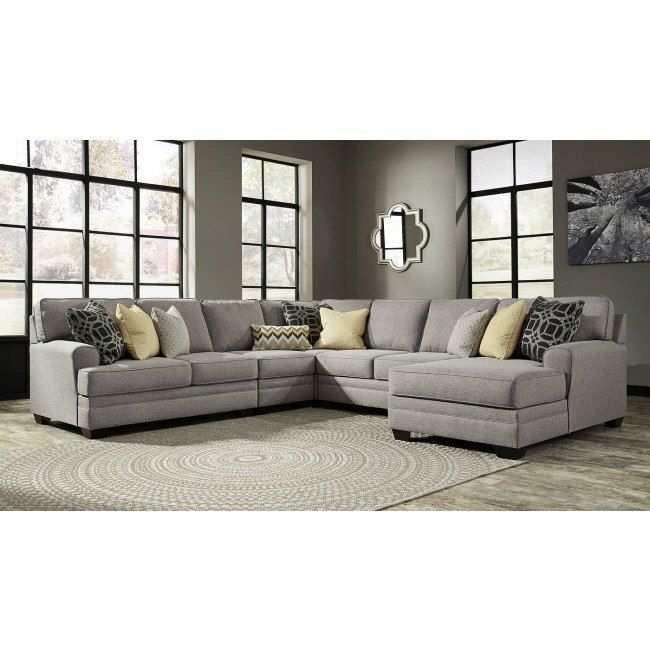 Cresson Pewter Modular Sectional w/ Chaise