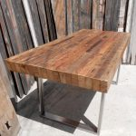 Custom Handmade Rustic Industrial/Modern Reclaimed Wood + Metal/ Steel Dining / Patio / Picnic Table / Restaurant / Commercial Grade