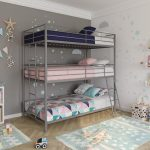 DHP Metal Triple Twin over Twin/Twin Bunk Bed, Silver - Walmart.com