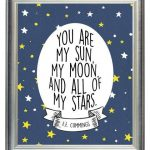 DIGITAL You Are My Sun, My Moon, & All of My Stars Outer Space Nursery Print Art, Print for Baby Kid Room, Wall Art Decor - ANY SIZE