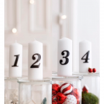 DIY Advent glasses - one idea, two styles Artificial fir tree as Christmas decor...