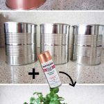 DIY Copper Tin Can Planters and Chalkboard Tags - Homey Oh My