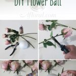 DIY Flower Ball.  Make your own pomander ball with silk flowers from Afloral.com...