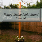 DIY Potted String Light Stand - This DIY stand allows you to have string lights ...