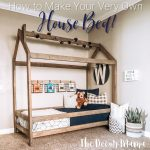 DIY Twin House Bed