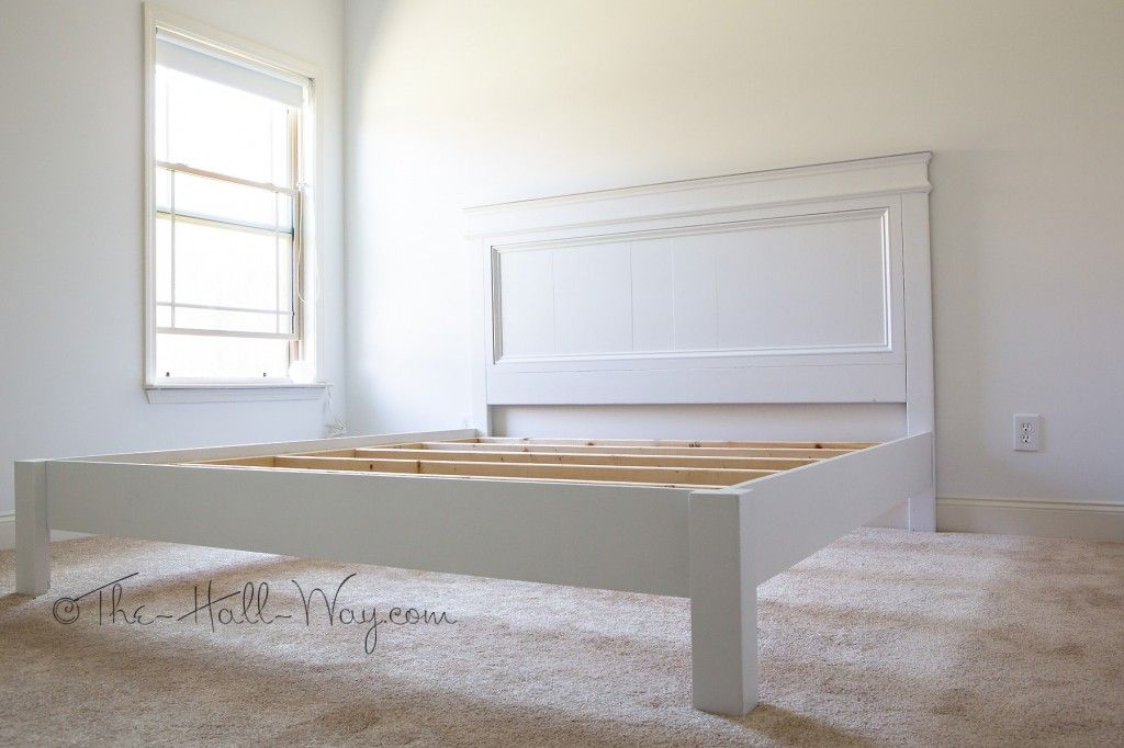 DIY farmhouse bed tutorial…links to Ana White's blog with TONS of DIY furnitur…