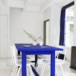 Dare blue in the dining room! - Trendy Home Decorations