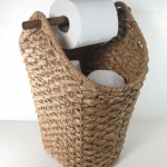Détails : Braided Rope Basket Toilet Paper Holder Rustic Country Style Bathroom Storage