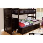 Discovery World Furniture Espresso Staircase Twin over Full Bunk Bed | Acadia | Stanford | Viv Rae | Kaitlyn