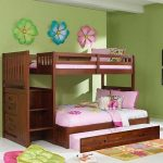Discovery World Furniture Merlot Staircase Mission Bunk Bed Twin/Twin | Acadia | Stanford | Viv Rae | Kaitlyn