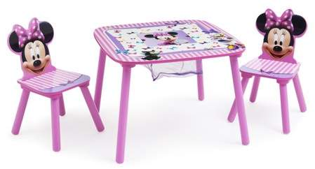 Disney Minnie Mouse Wood Kids Storage Table and Chairs Set by Delta Children – Walmart.com
