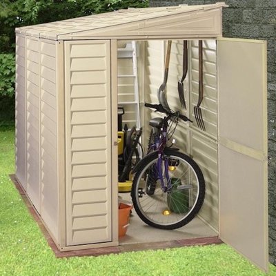 Duramax SideMate 4 ft. W x 8 ft. D Plastic Lean-To Storage Shed | Wayfair