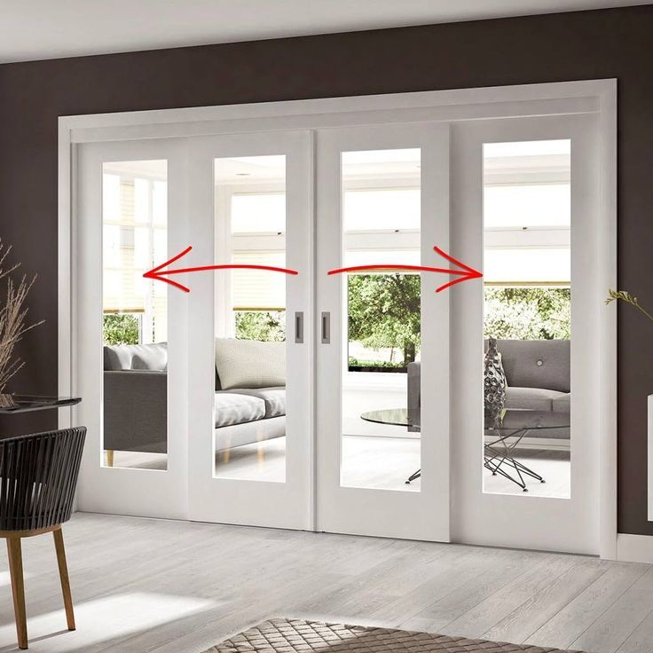 Easi-Slide OP1 White Shaker 1 Pane Sliding Door System in Four Size Widths with Clear Glass and sliding track frame. – My Blog