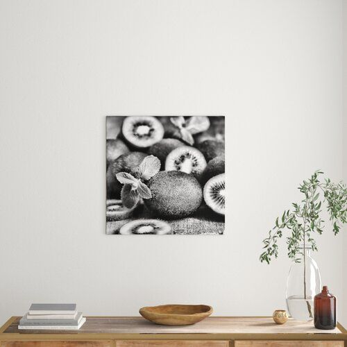 East Urban Home Appetising Kiwifruit on a Wooden Table Photographic Print on Canvas | Wayfair.co.uk