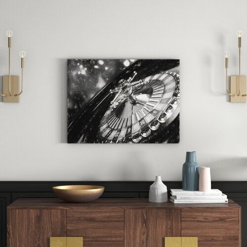 East Urban Home Roulette Table Wall Art on Canvas | Wayfair.co.uk
