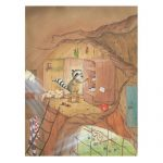 East Urban Home Vasily at the Kitchen Cupboard Drawing Print on Canvas | Wayfair.co.uk