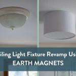 Embracing Simplicity: DIY Ceiling Light Fixture Revamp Using Earth Magnets and a Barrel Shade