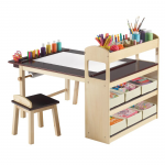 Emilio Kids 3 Piece Arts and Crafts Table and Chair Set