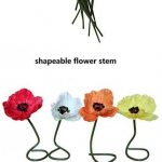 En Ge 10 Stems Mini Artificial Poppies Real Touch Fake Latex Flowers for Bridal Wedding Bouqu...