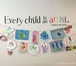 Every Child is an Artist Decal - Kids Artwork Display Decal - Picasso Quote Wall Sticker - Pr...
