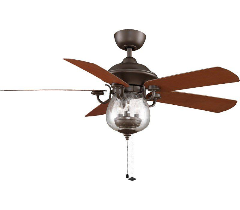 Fanimation FP7954OB, Crestford Oil-Rubbed Bronze 52″ Outdoor High Airflow Ceiling Fan with Light