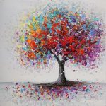 Fashion Framed Colorful Tree Abstract Picture Canvas Print Paintings Home Wall Art Decor | Wish