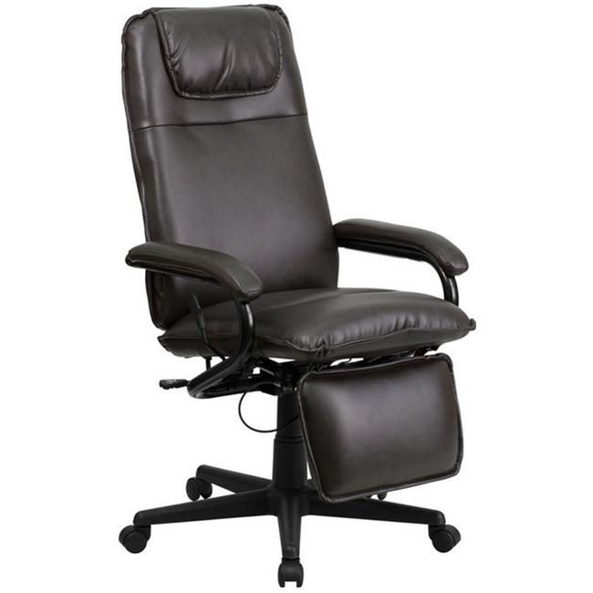 Flash Furniture High Back Brown Leather Executive Reclining Office Chair – BT-70172-BN-GG