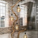 Floor lamp of crooked old Oak branch,  #branch #crooked #Floor #lamp #naturalhomecleaningprod...