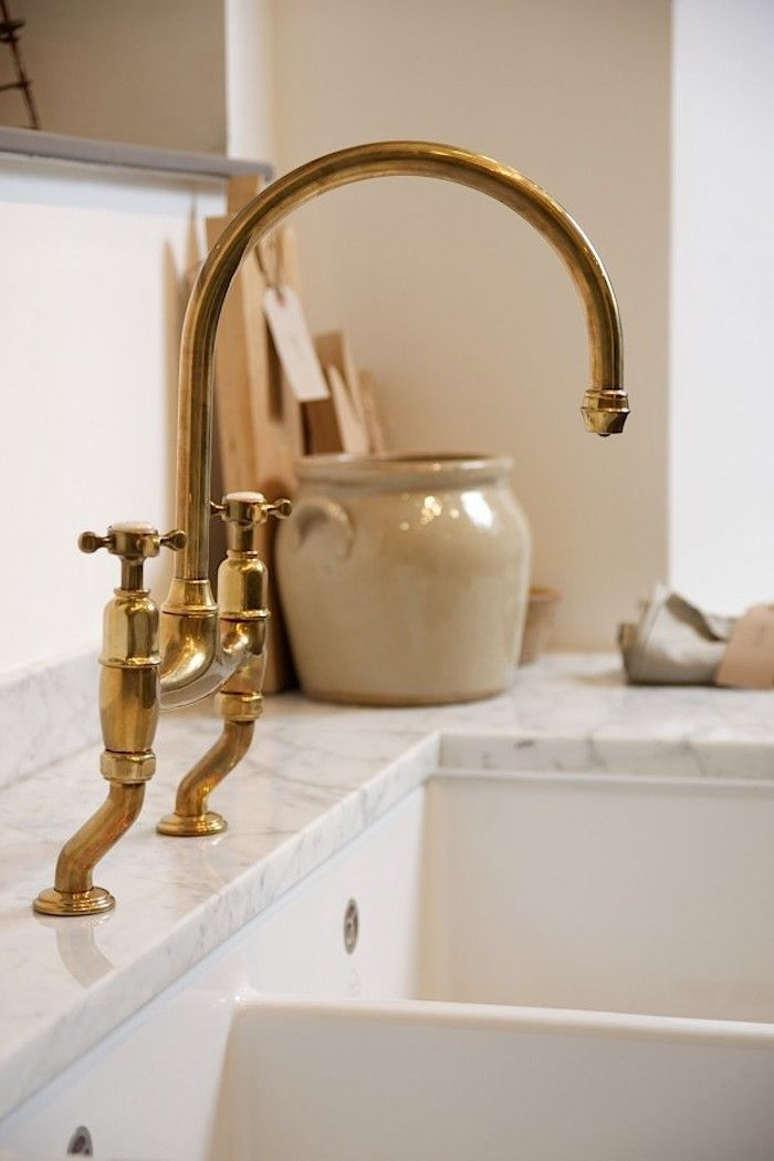 Found: The Perfectly Aged Brass Kitchen Faucet – Remodelista