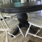 France Round Wood Dining Table.