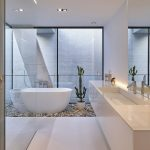 Freestanding Bath, Walter Wuyts, Bathroom, Shower, Bathtub, Pebbles, Stones, Cactus, Wa,  #ba...