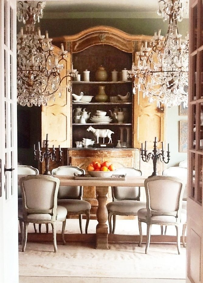 French armoire in the dining room.