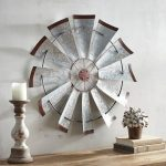 Galvanized Windmill Wall Decor
