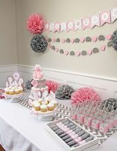 Girl Elephant Baby Shower Party Ideas | Photo 1 of 23 | Catch My Party – #catch …