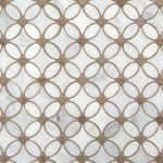 Gray and White Flower Marble Mosaic - 12 x 12 - 100105055