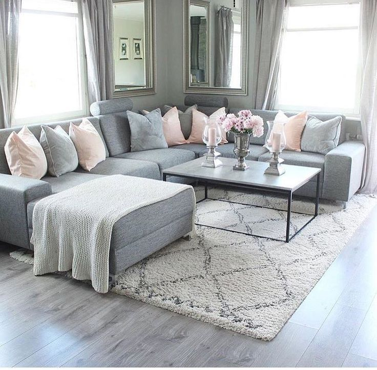 Grey couch – black and white coffee table – basket… – #basket #BLACK #Coffee #…
