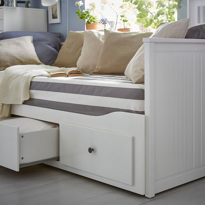 HEMNES Daybed frame with 3 drawers – white – IKEA
