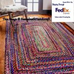 Hand Braided Bohemian Colorful Cotton Chindi Area Rug multi colors Home Decor Rugs cotton area rugs