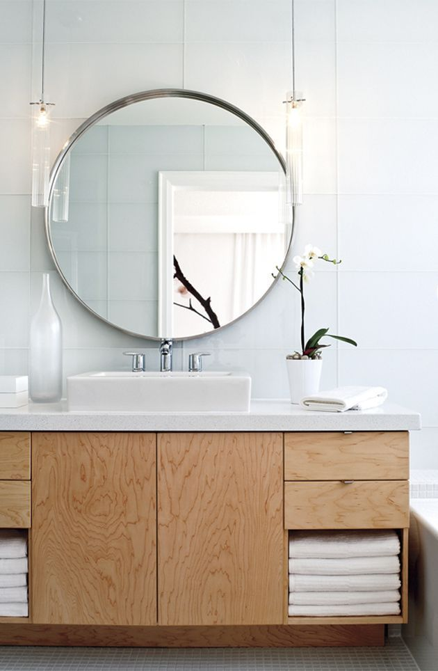 Here we have found several different types of round bathroom mirror with shelf d…