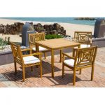 Highland Dunes Radnor 5 Piece Dining Set with Cushion | Birch Lane