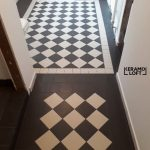 Historical #Zahna # tiles laid in the #chachbrett pattern. Black and white Tradit ... - Country House | 2019
