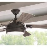 Home Decorators Collection Westerleigh 54 in. Integrated LED Indoor/Outdoor Natural Iron Ceiling Fan with Light Kit and Remote Control-YG617-NI - The Home Depot