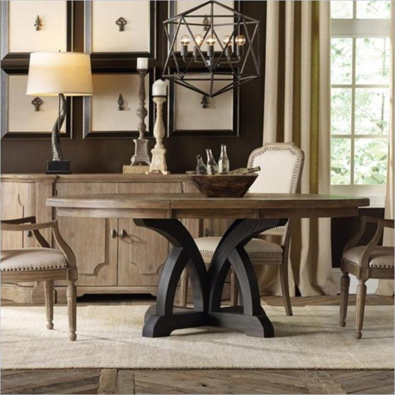 Hooker Furniture Corsica 54″ Round Dining Table with 18″ Leaf