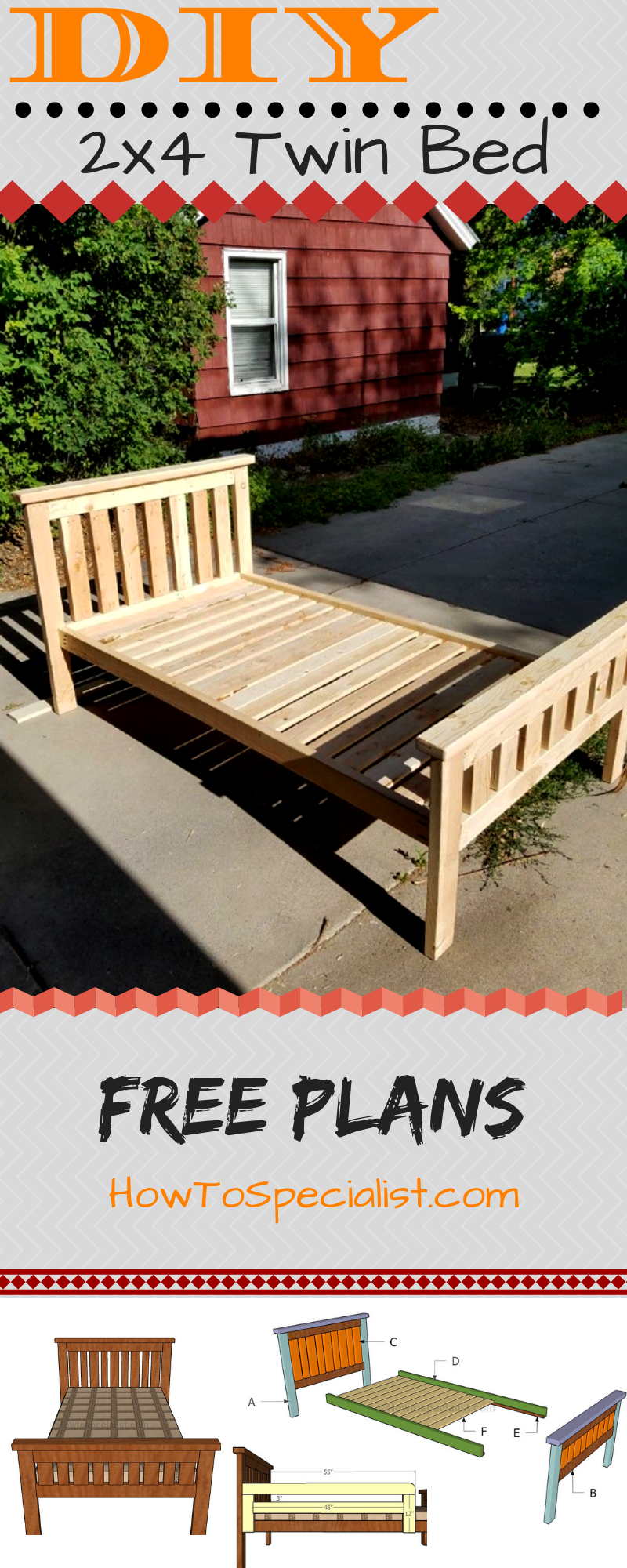 How to Build a 2×4 Twin Bed