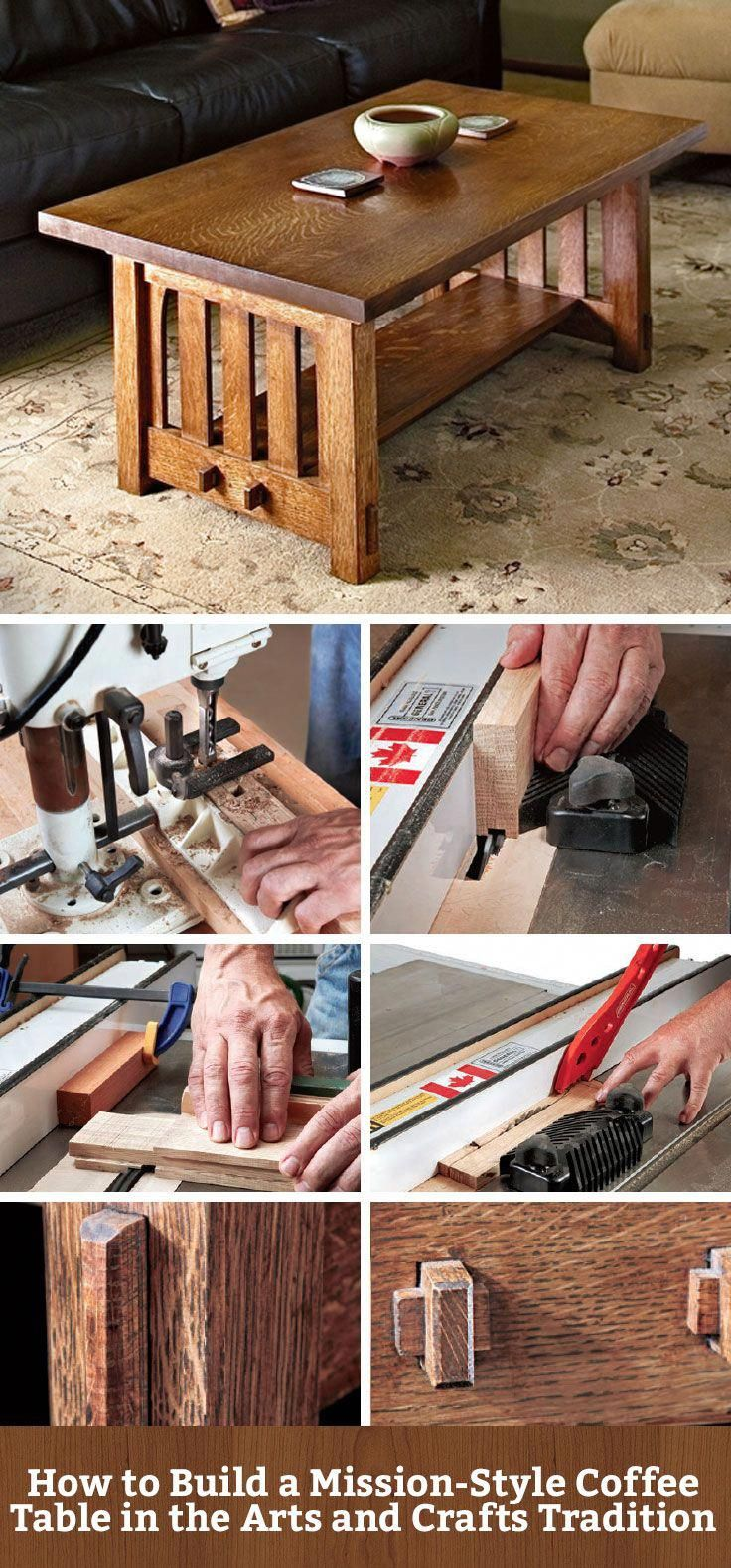 How to Build a Mission-Style Coffee Table in the Arts and Crafts Tradition   #fu…