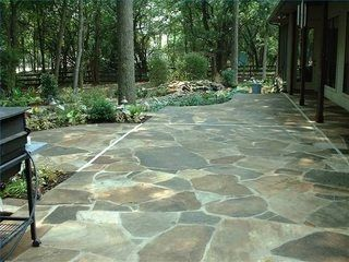 How to Faux Stone a Concrete Outside Floor | Hunker