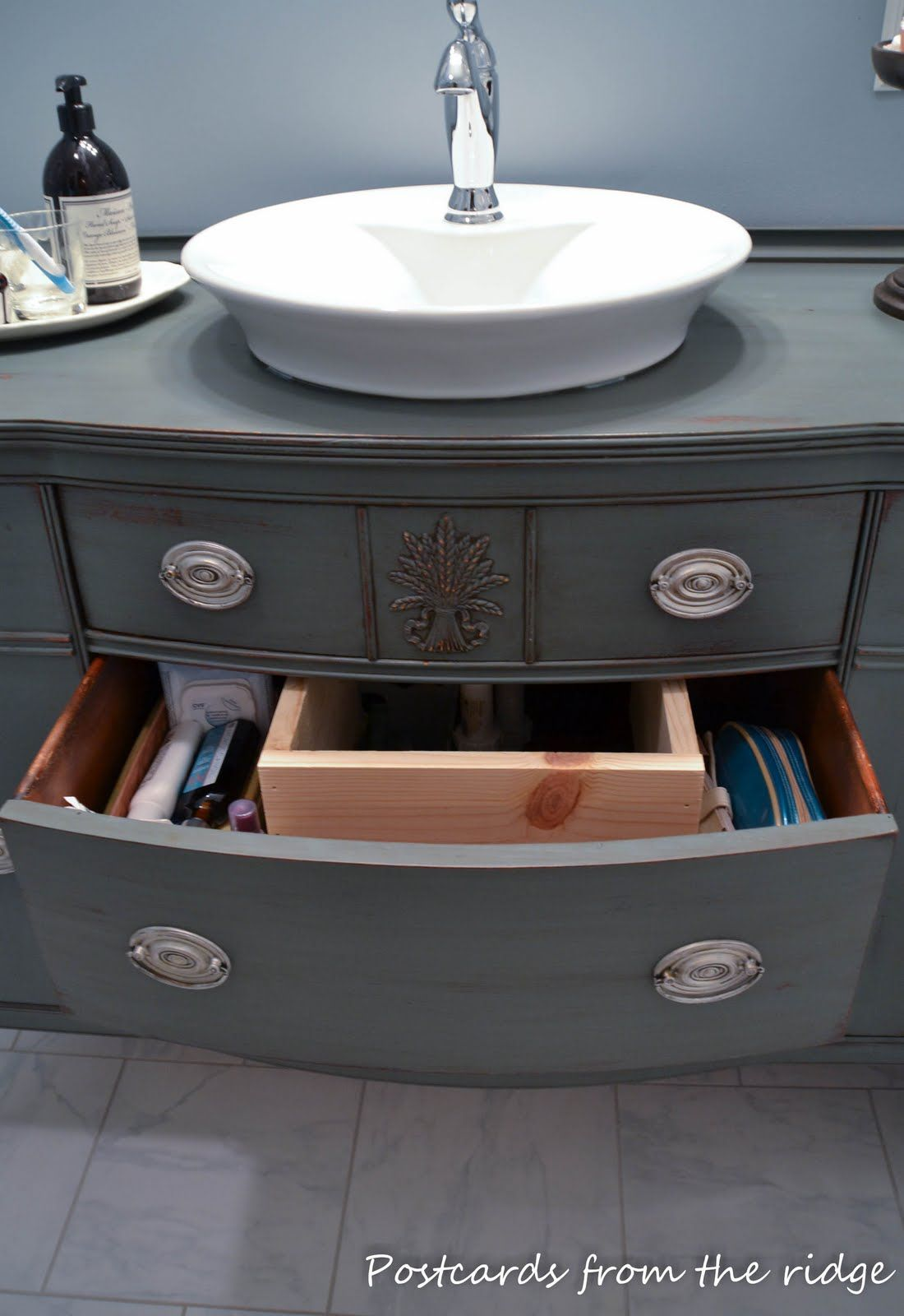 How to Make a Bathroom Vanity from a Piece of Furniture