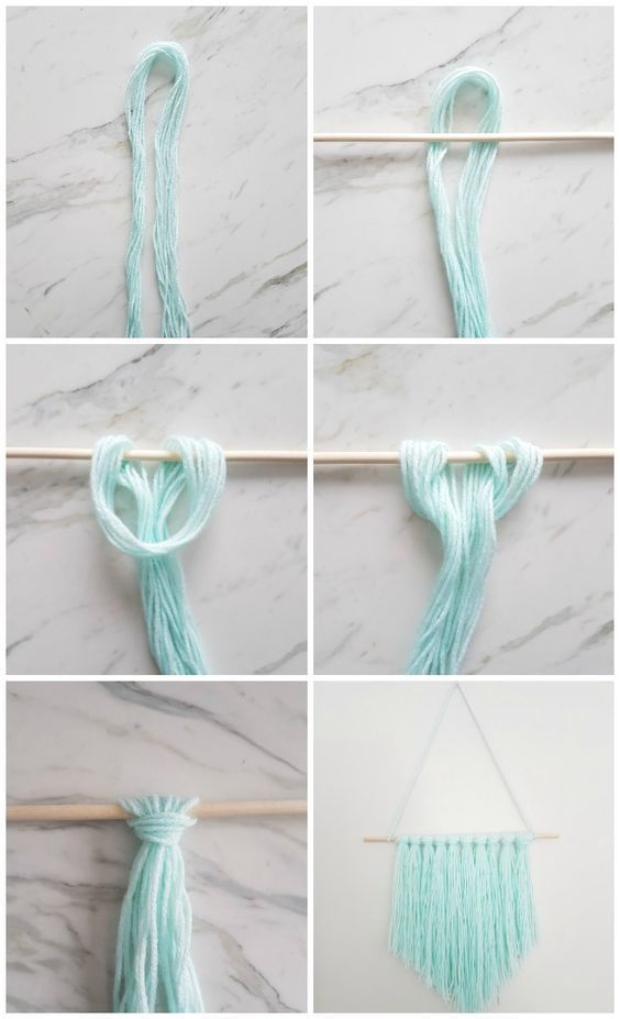 How to Make an Easy DIY Wall Hanging with Yarn – A Quick & Easy DIY