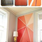 Idea for colorful wall design – a homemade mural for some color in the … - DIY Crafts