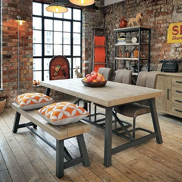 Industrial Dining Tables | Steel and Wood |Modish Living